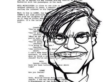Aaron Sorkin Screenplay Portrait (The Newsroom)