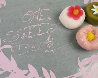 Pink One Sweet Day Handwriting Print Wax Paper Baking Cookie Sandwich Gift Wrap (25 sheets)