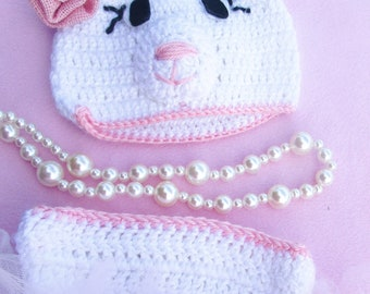 Pretty in Pink/ Baby hat and diaper cover