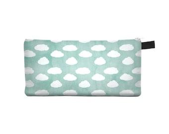 Aqua Cloud Pencil Case - Free shipping USA and Canada