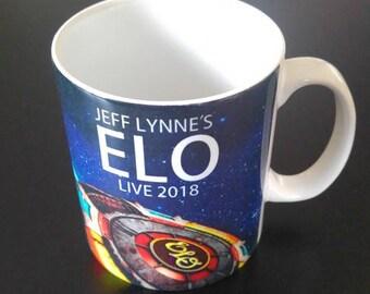 Jeff Lynne's ELO 2018 World Tour Personalised Mug, Electric Light Orchestra Gift Mug, Jeff Lynne, ELO Mug and Coaster