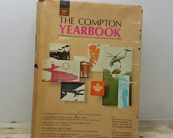 The Compton Yearbook, 1967 edition, events of 1966, vintage book