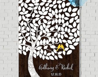 Wedding Guest Book Tree Wedding Tree, Guest Book Alternative, Wedding Canvas Wedding Gift Guest Book Sign Wish Tree, Bridal Shower Gift