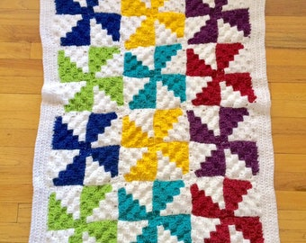 Baby Knox Crib Blanket AND Pinwheel Stroller Blanket - PATTERNS - Crochet Your Own Blankets