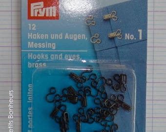 Map of 12 small black clips for clothes - 8 mm (No.1) Prym 263 849