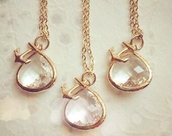 Bridesmaid Necklace Bridesmaid Jewelry Anchor Necklace Bridesmaid Gift Anchor Necklace Bridal Jewelry Wedding Party Limonbijoux
