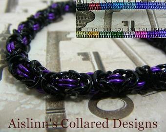 Black Base Byzantine Bracelet