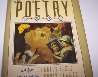 Best American Poetry 1992 ~ Charles Simic Editor ~ Hardcover Book ~ Art Projects ~ Scrap-booking ~ Poem Book