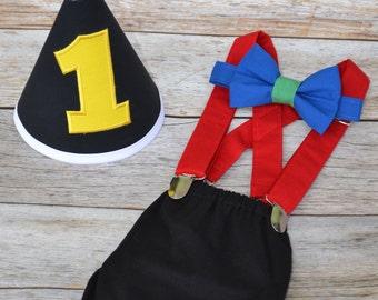 Boy Cake Smash Outfit, Uno Cake Smash,  Cake Smash Outfit, Boys 1st Birthday, Birthday Outfit, Boys Birthday