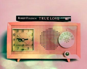 Fine Art Photograph, Pink, Antique Radio, Retro Decor, Old Radio, Bokeh, Still Life Photo, True Love, Vintage Radio, Art Print, Home Decor