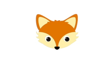 Cute Fox embellishment template