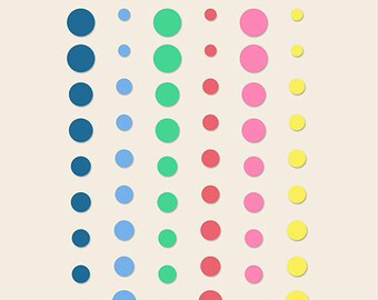 Basic Grey Saturday Morning Enamel Dots / Candy Buttons -- MSRP 4.00