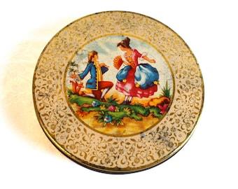 Vintage Tin Box - Victorian Proposal Tin Box