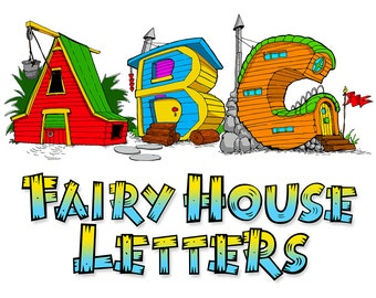 ABC, 123 Fairy House Letters alphabet coloring book Colorbook4Nerdlings by Sean McMenemy