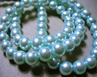 Glass Pearls Blue 8MM