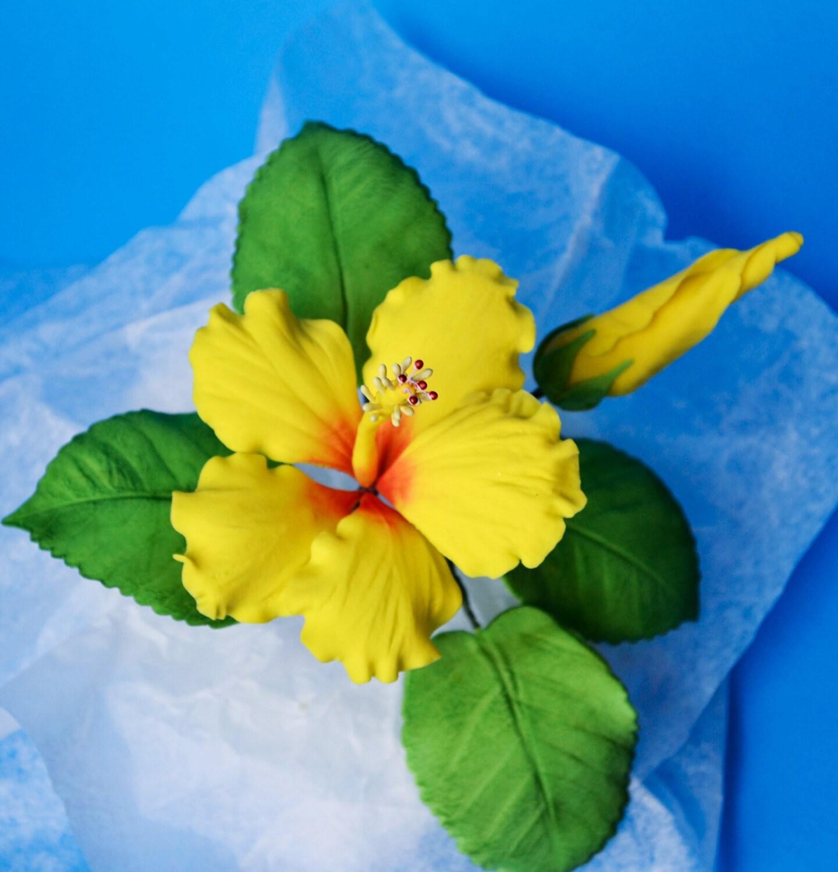 Sugar gumpaste hibiscus flower for wedding cake tropical sugar gumpaste hibiscus flower for wedding cake izmirmasajfo Gallery