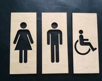 WC sign signs for toilet signs for bathroom signs for cafe signs for bar decor bathroom