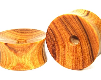 Inca Olive wood Flat Ear Tunnel 01 Handmade Gauges/Stretchers/Custom Made Ear Tunnels sizes10mm-40mm