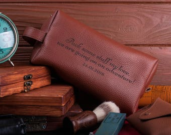 Leather dopp kit Groomsmen gift leather toiletry bag mens toiletry gift groomsmen gifts travel bag shaving kit personalized gift mens gift