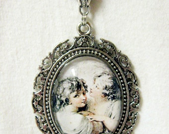 Two angels necklace - AP09-013