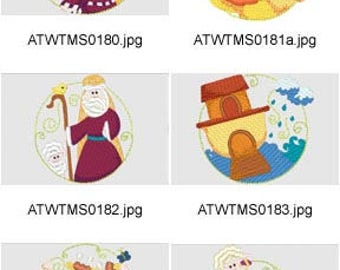 Noahs-Ark-Circles ( 10 Machine Embroidery Designs from ATW ) XYZ17D