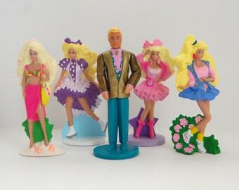 Vintage Barbie Toys, Mcdonald's Happy Meal Barbie and Ken Dolls, 90's Barbie