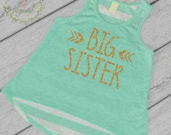 Big Sister Shirt Sibling Big Sister Tank Top Little Sister Shirts Big Sister Shirt Pregnancy Baby Announcement Shirt 015