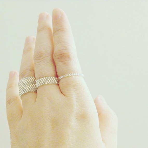 Silver Ring Set, Silver Ring Band, Silver Midi Ring, Silver Whisper Ring, Stackable Rings, Stacking Rings, Couple Bands, Minimalist, Modern