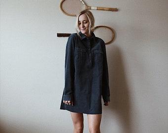 Teal Corduroy Dress