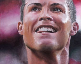 Portrait, portrait, painting, art, photo realism, photorealism, realism, realism, CR7