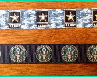 1 Inch U. S. Army Grosgrain Dog Collar