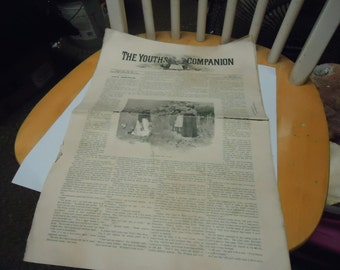 Vintage 1894 the Youth's Companion Newspaper, Boston, collectable, Thursday Feb 22