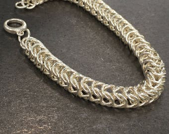 Sterling Silver Box Chain Link Bracelet