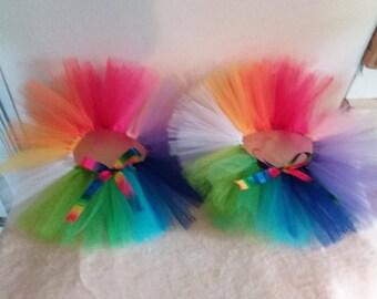 "Custom Tutus, Rainbow, Any color-Infant, Toddler & Children's Sizes/ Newborn-Children 14/16 (waist 0-26""+) LGBTQ, Pride Parade Wear"