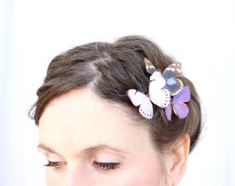 3 silk butterfly hair clips . your choice of butterflies . gifts for birthday, wedding, bridesmaids, parties, everyday . costume . handmade