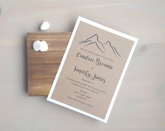 Rustic Mountain Wedding Invitations, Mountain Wedding, Country Wedding