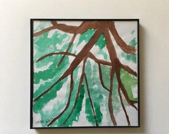 52/100: Tree - original framed watercolor illustration