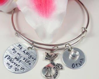 Pet Loss Gifts Pet Lover Gift Cat Loss Gifts Dog Loss Gifts Pet Memorial Jewelry Loss of Pet Bracelet Custom Stamped Cat Dog Pet Jewelry