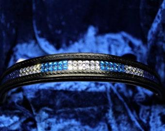 Swarovski - The Blues with Black Leather