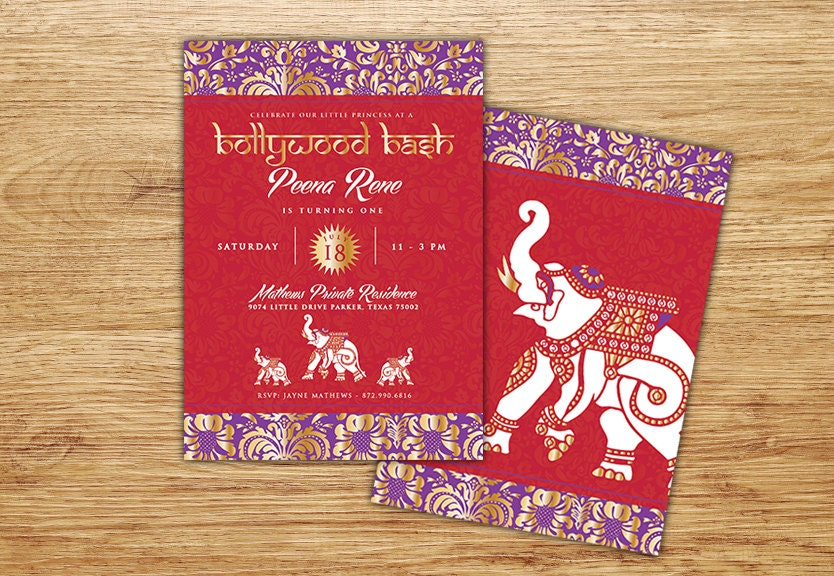 Bollywood Theme Invitation Cards - All The Best Invitation In 2018