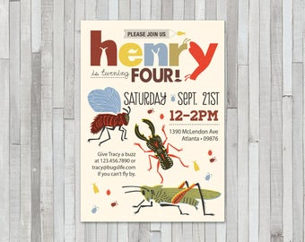 Insect Birthday Invitation