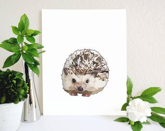 Hedgehog Art Print, Hedgehog Gift, Woodland Nursery, Animal Wall Art, Hedgehog Painting, Hedgehog Memorial, Animal Lover Gift, Kids Wall Art