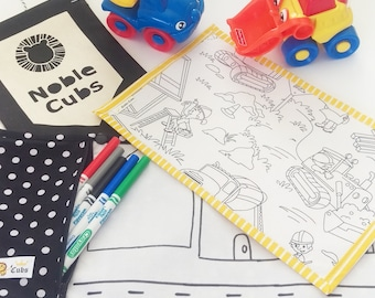 Noble Cubs Colouring Mat Add on -Construction Zone