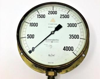 Vintage Pressure Gauge Budenberg Broadheath Manchester