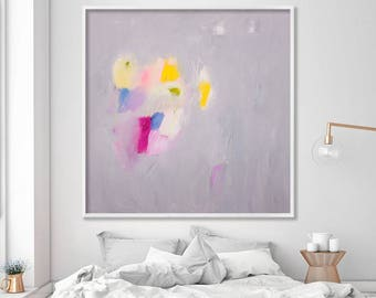 "Extra large wall art abstract art print up to 40x40"" of abstract painting Giclee print Pink grey wall art by Duealberi"