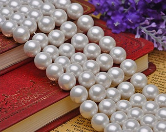lot of 75  Vintage Huge White  20mm Pearl Beads