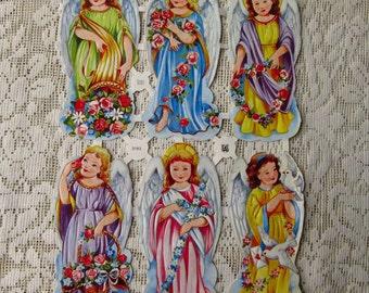 Vintage EAS Germany Die Cut Paper Scraps Heavenly Angels  EAS 3192B