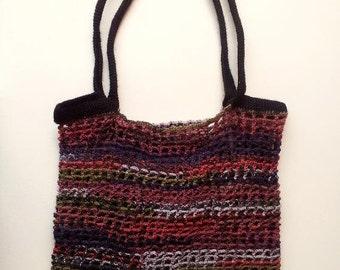 Grocery Bag Crochet Pattern, Tote Bag Crochet Pattern, Stretch Fabric Grocery Bag Crochet Pattern, Shopping Bag Crochet Pattern, Tutorial