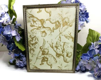 METAL PICTURE FRAME 8x10 Metal Picture Frame Gold Standing Table Top Brass Photo Frame Easel Back