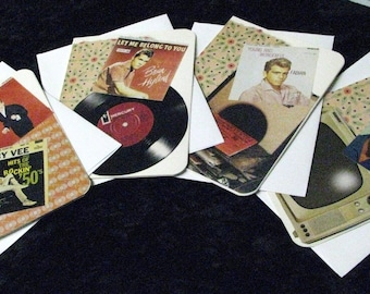 50s Heartthrob blank notecards with envelopes, set of four